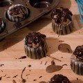 Muffins de Chocolate com chocolate