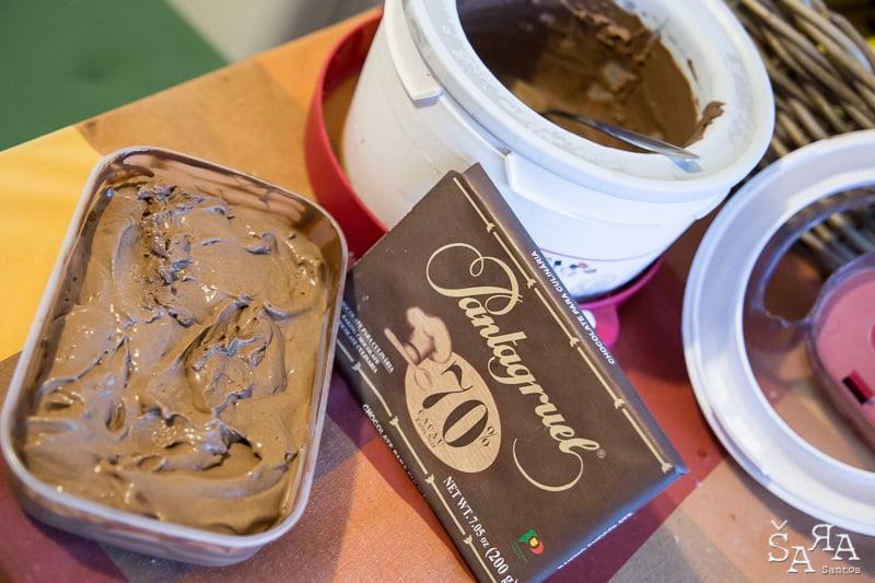 Gelado caseiro de Chocolate