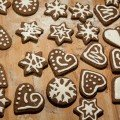 Bolachas de Natal de chocolate