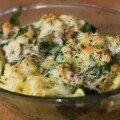 Raviolis com queijo e espinafres