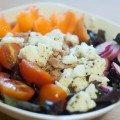 Salada de Atum com queijo de cabra Caprese