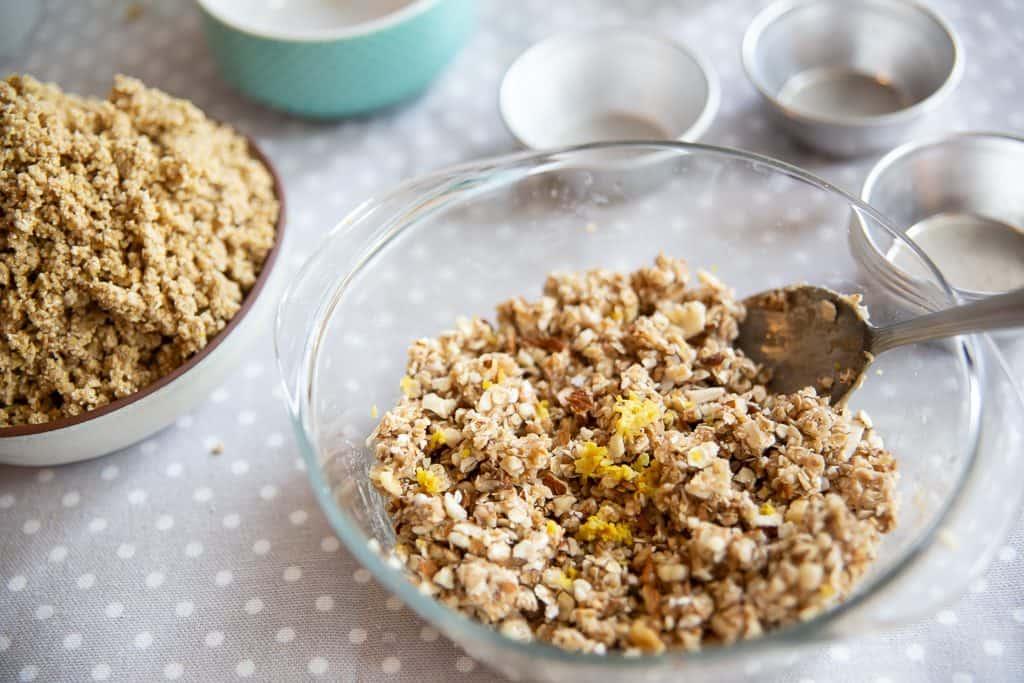 Muffins de aveia e trigo sarraceno preparação