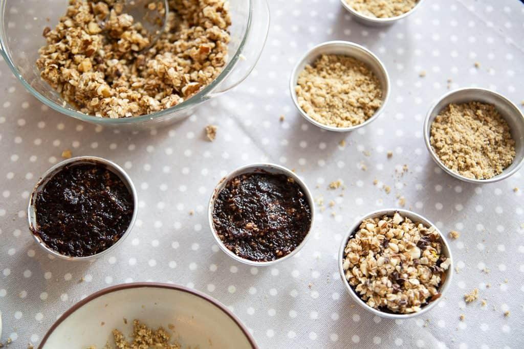 Muffins de aveia e trigo sarraceno forno