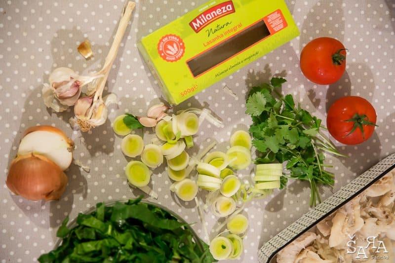 Lasanha de bacalhau com espinafres