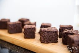 Brownies de beterraba e chocolate