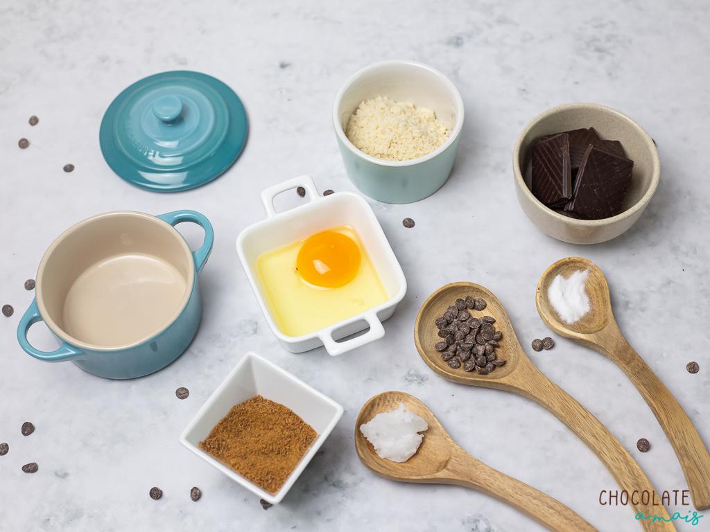 Ingredientes para o bolo