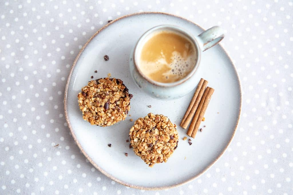 Muffins de aveia e trigo sarraceno prontos