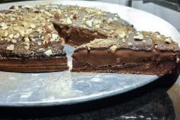 Tarte de chocolate vegan