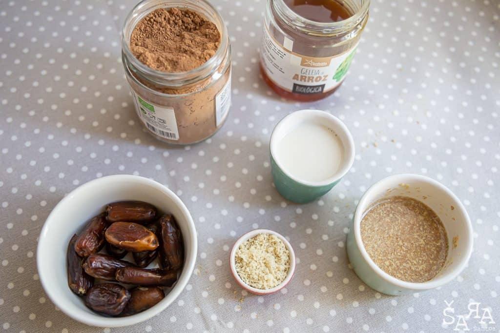 Bombons de salame de chocolate ingredientes