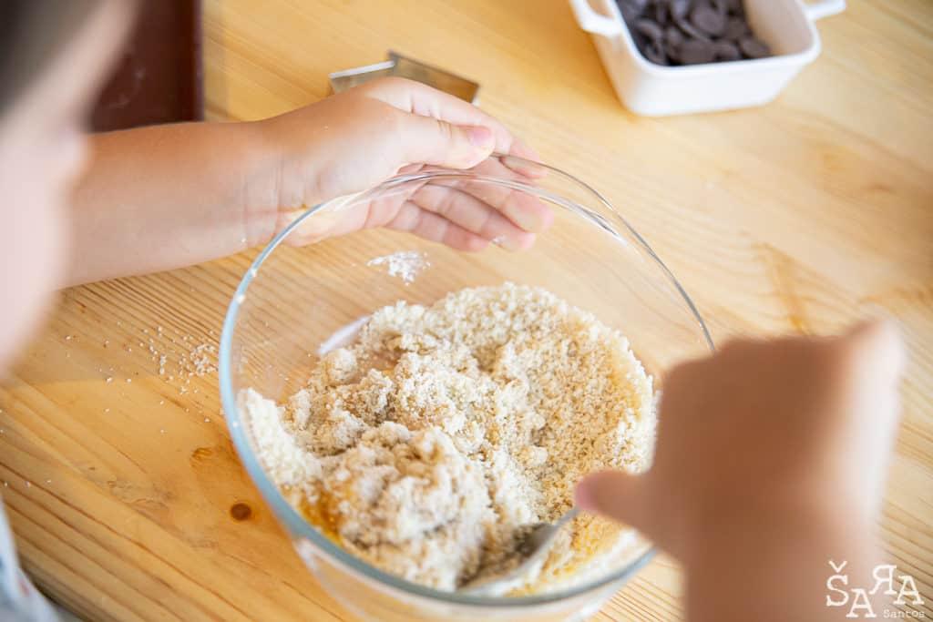 Ingredientes para preparação das bolachas