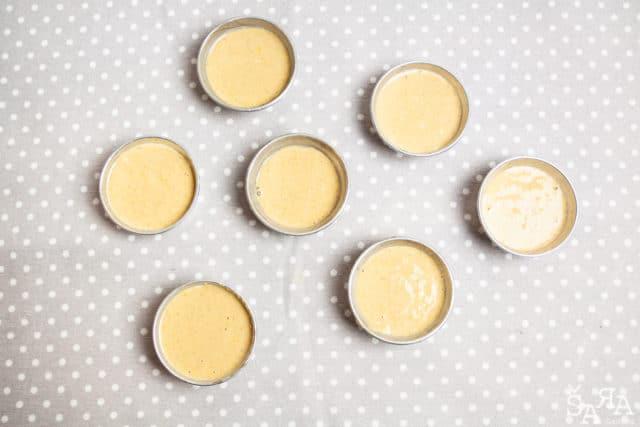 Muffins em formas pequenas