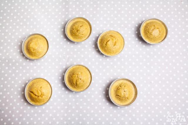 Muffins acabados de sair do forno
