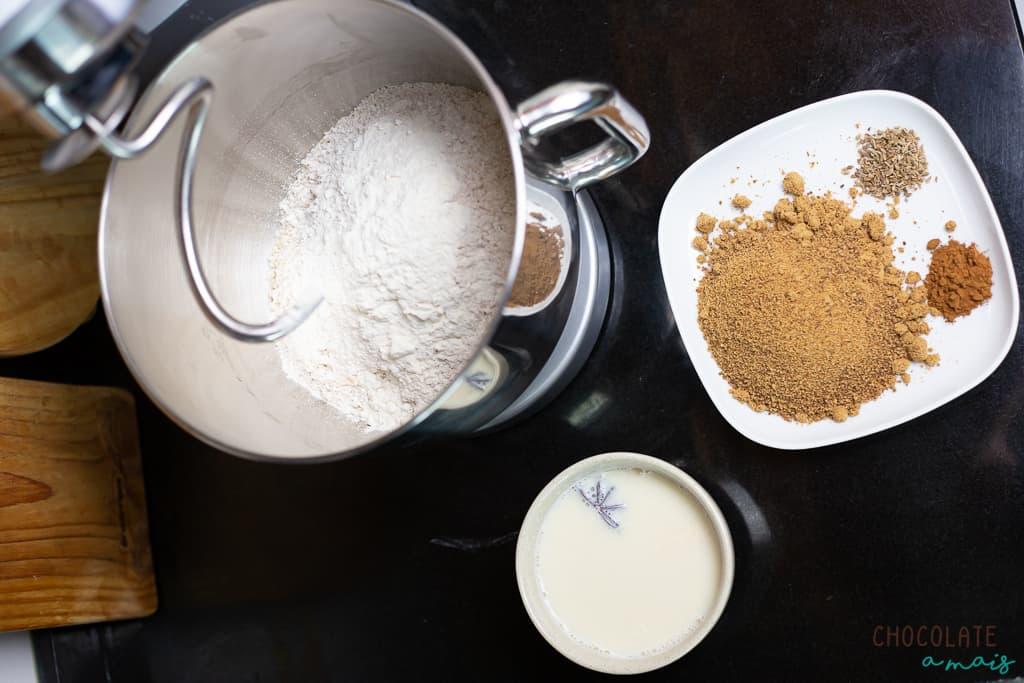 Ingredientes para o folar